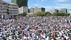 Thousands of peaceful protesters gathered in Dar es Salaam in Tanzania(21 Sept 2012)