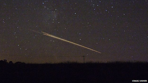 Meteor in the skies over Loch Thom, Scotland