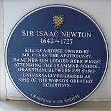 Sir Isaac Newton Plaque