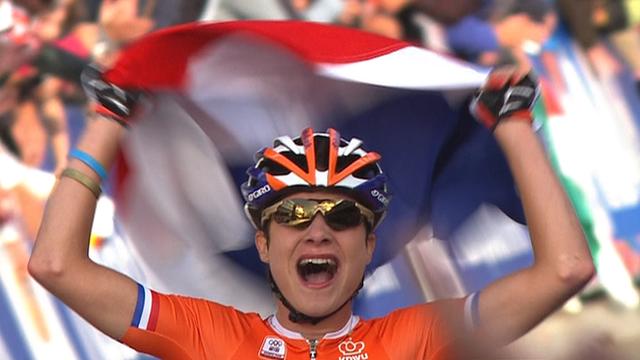 Dutch rider Marianne Vos wins world championship road race