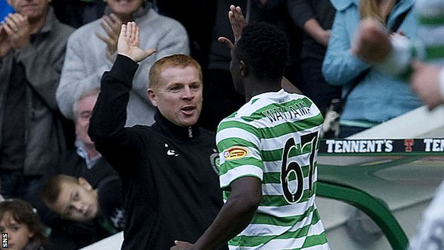 Neil Lennon and Victor Wanyama