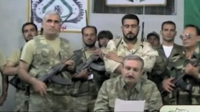Video on YouTube showing the Free Syrian Army's General Riad al-Asaad and soldiers