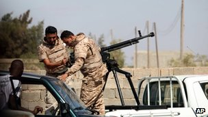 Libyan soldiers in Benghazi, 22 September
