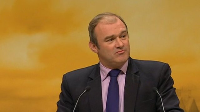 Ed Davey addresses conference