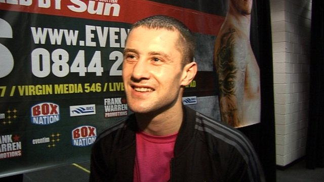 WBO world lightweight champion Ricky Burns
