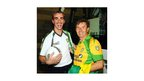 Country and Western singer and Donegal native Daniel O'Donnell sports his colours with county team manager Jim McGuinness