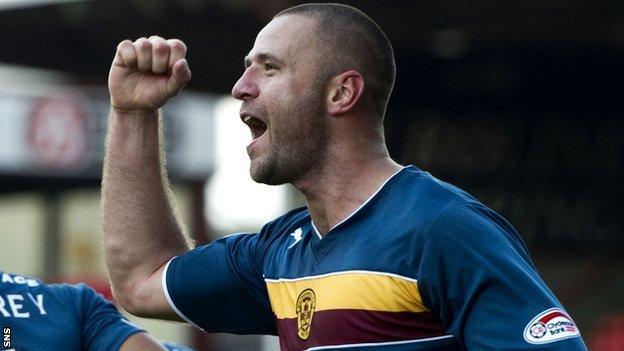 Motherwell scorer Michael Higdon
