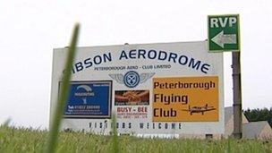 Sibson Aerodrome sign