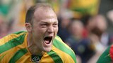 Colm McFadden celebrates after scoring Donegal's second goal against Mayo in the All-Ireland final