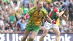 Colm McFadden celebrates after his goal puts Donegal 2-1 to 0-0 ahead after 11 minutes