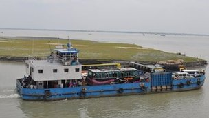 Ferries carrying vehicles
