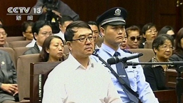 Wang Lijun in court in Chengdu on 24/09/12