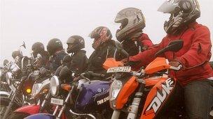Women bike riders