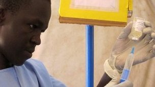 Nurse Juma James in Aweil Hospital, South Sudan