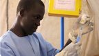 Nurse Juma James in Aweil Hospital, South Sudan