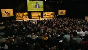 Lib Dem conference hall