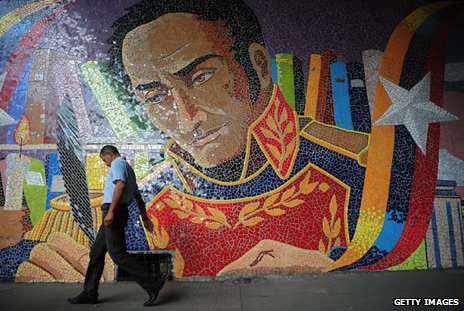 Mural of Simon Bolivar