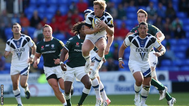 Bath&#039;s Michael Claassens in action against London Irish