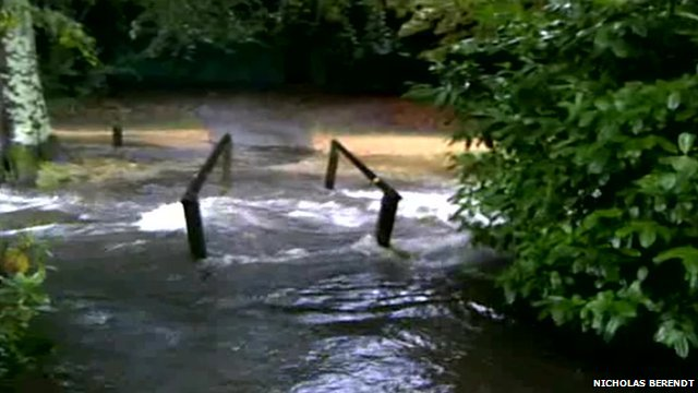 Flooding at Bournemouth Upper Gardens