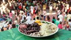 Plate of Feijoada in samba school