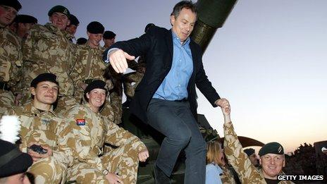 Tony Blair in Iraq