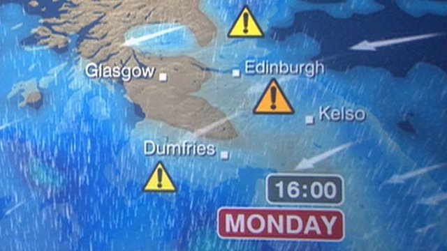 Weather map of Scotland