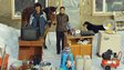 Chinese family with possessions