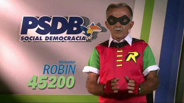 A candidate for Aracaju&#039;s City Council - Robin