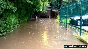 Flooded underpass in Skelmersdale