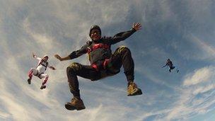 Patrick Sandeman skydiving