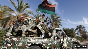 Libyan security forces in Tripoli, 23 September 2012