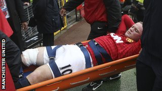 Rooney has not featured for club or country since being stretchered off against Fulham on 25 August