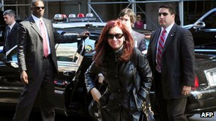 Cristina Fernandez in New York, Sep 2012