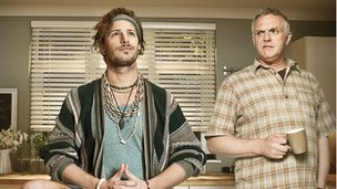 Andy Samberg and Greg Davies in Cuckoo