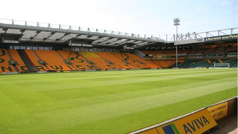Carrow Road stadium, home of Norwich City FC