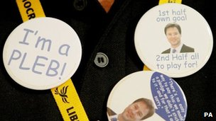 Lib Dem badges