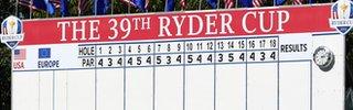 Ryder Cup scoreboard
