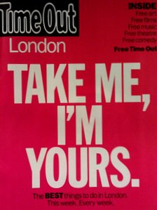 The first free edition of Time Out London