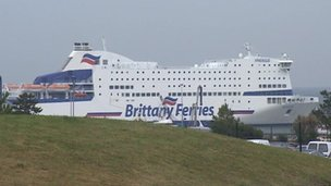 Brittany Ferries' Armorique tied up in Roscoff
