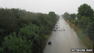 The East Coast Main Line is closed south of Darlington