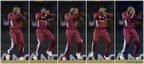 West Indies' cricketer Chris Gayle performs a dance