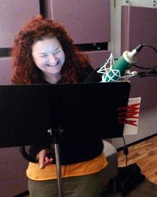 Nicki Rapp in the recording studio