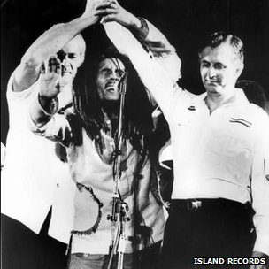 Bob Marley at the One Love concert (Copyright: Island Records)