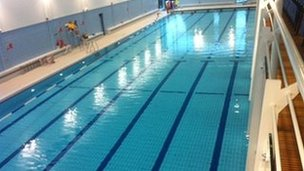 Bbc news ni 39 s first 50m swimming pool opens in magherafelt - Bangor swimming pool northern ireland ...