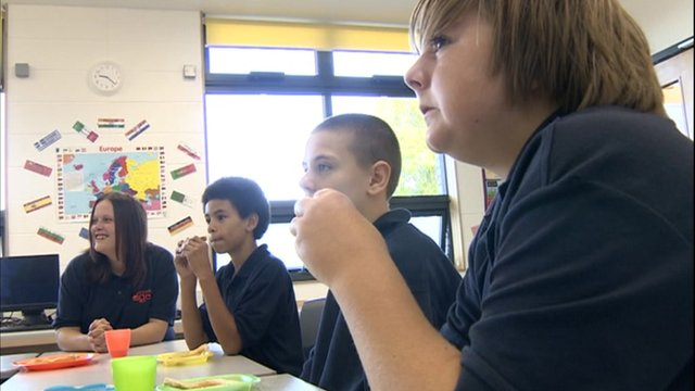 School breakfast club at Knowle DGE School, Bristol