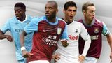 Left to right: Yaya Toure, Darren Bent, Danny Graham and Kevin Nolan
