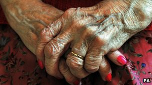 Elderly persons hands