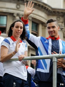 Beth Tweddle and Louis Smith