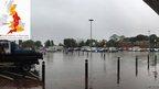 Car park under water