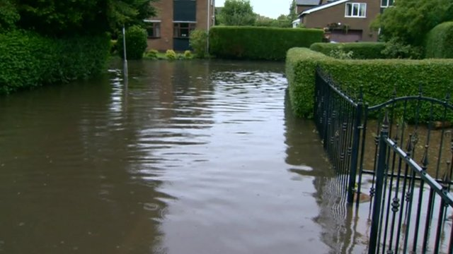 A street in Hambleton has flooded six times since June